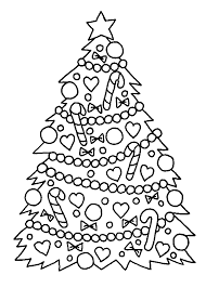 christmas coloring page of christmas tree