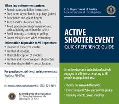 active shooter event quick reference guide u2014 fbi