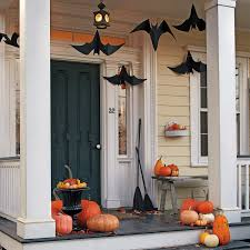 simple for halloween party decorations with pumpkins and bats in