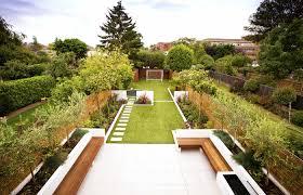 vibrant ideas for long gardens download garden trends