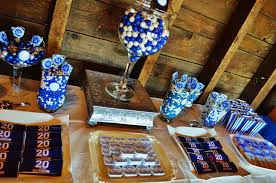 class reunions ideas rustic blue and white class reunion party ideas photo 9 of 25