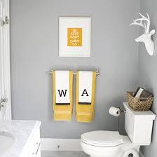 Fun Kids Bathroom - modern fun kids u0027 bathroom done in gray white and yellow