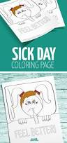 sick day coloring page for kids moms and crafters