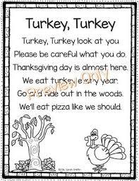 turkey turkey thanksgiving poem for turkey facts fall