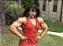 Female Bodybuilder Meme - biceps red dress gif find share on giphy