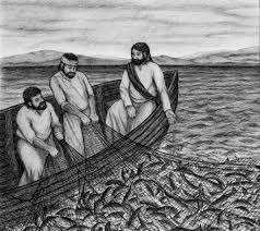 fishers of men image jesus disciples in boat miraculous catch