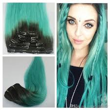 teal hair extensions peruvian ombre clip in human hair extensions 12 22inch 1b