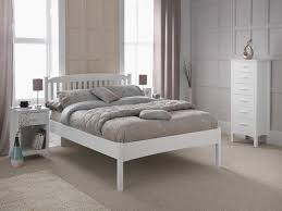eleanor white white wood low foot end bed frame bed frames