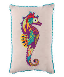 coral camouflage seahorse throw pillow bedroom pinterest