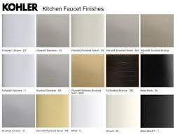 Kitchen Faucet Finishes Kohler Kitchen Sink Color Chart Kitchen