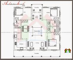 typical kerala nalukettu type home plan in 2000 sq ft with floor