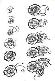 Flower Designs For Drawing How To Draw A Beautiful And Smooth Mehndi Flower Small And Easy