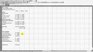 Company Balance Sheet Format In Excel by Mike Company Proforma Balance Sheet Mp4 Youtube