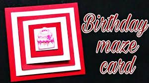 diy maze card maze card for birthday how to make maze card photo