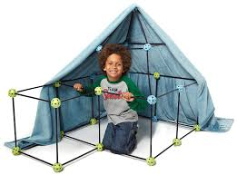 amazon com construction fort by discovery kids 72pc build u0026 play