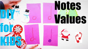 music notes values for kids diy fun project kids crafts youtube
