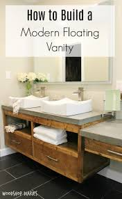 62 best bathroom images on pinterest bathroom ideas bathroom free building plans to create your own modern diy floating bathroom vanity that could double as