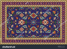 Traditional Persian Rug by Colorful Oriental Mosaic Rug Traditional Folk Stock Vector