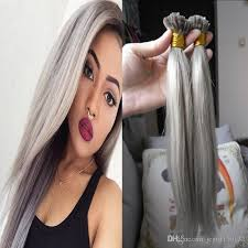 hairstyles for bonded extentions grey hair extensions fusion hair extensions keratin nail u tip