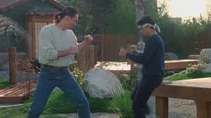 karate kid iii mike barnes vs daniel san street fight youtube
