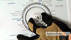 washer timer dial part wp3957841 how to replace youtube