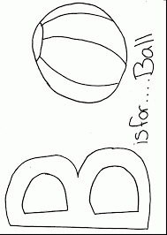 fabulous alphabet coloring pages introduces the letter is for ball