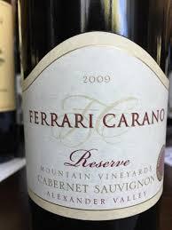 carano reserve cabernet 2009 carano cabernet sauvignon reserve usa california