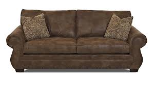 traditional sleeper sofa traditional sofa with rolled arms and nailhead trim by klaussner