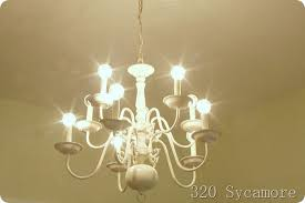 Chandelier Cost How To Paint A Brass Chandelier Diy 320 Sycamore