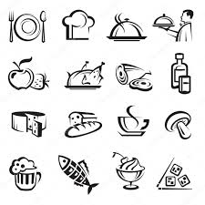 food vector food icons u2014 stock vector alexkava 10020560