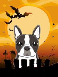 halloween boston terrier flag canvas contemporary flags and