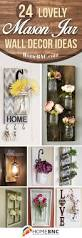 Sparkle Wall Decor 24 Best Mason Jar Wall Decor Ideas And Designs For 2017