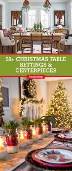 country centerpieces 49 best christmas table settings decorations and centerpiece