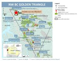 Map Of The Northwest Thorn Gold Silver Project Brixton Metals Tsx V Bbb
