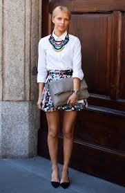 white shirt necklace images Statement necklace stockholm street style multicolor beads fashion jpg
