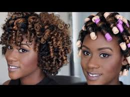 black rod hairstyles for 2015 perm rod set tutorial for natural hair iknowlee youtube
