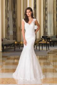 Lace Wedding Dress Style 8858 Deep Illusion Back Chantilly Lace Bridal Gown Justin