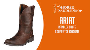 ariat men u0027s rambler square toe boots 10006715 youtube