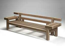 garden bench contemporary teak with backrest nar 265 by