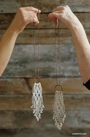 simple diy macrame necklace macrame necklace simple diy and easy macrame necklace tutorial