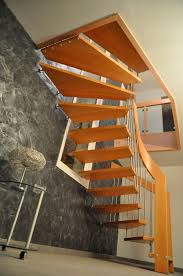 treppen meister half turn staircase wooden steps wooden frame without risers