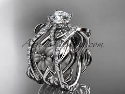 unique wedding rings collection uniquunique platinum floral diamond wedding