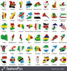Flags In Flags African Flags In Map Shape Stock Illustration I2488042 At