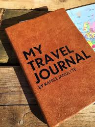 Personalised travel journal 2019 diary luxury leather by the