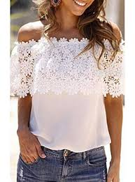 shoulder blouse the shoulder tops for women cheap price