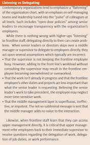 who u0027s the boss the organizational impact of bypassing the chain