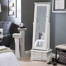 Hayworth Jewelry Armoire Bedroom Contemporary Bedroom With White Mirror Jewelry Armoire
