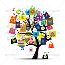 shopping tree with bags by kudryashka graphicriver