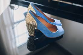 wedding shoes edinburgh blue wedding shoes with gold heels for a relaxed traditional and