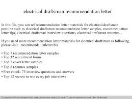 Draftsman Resume Sample by Electrical Draftsman Recommendation Letter